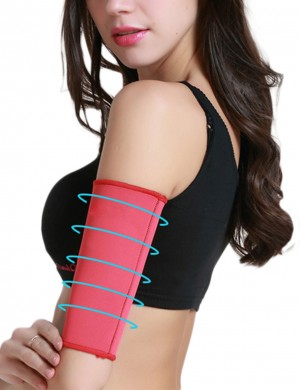 Red Repel Sweat Arm Shaper Neoprene High Impact Slimming
