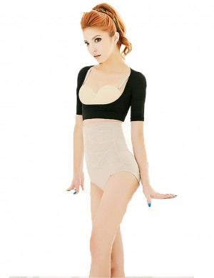 Stretchy Black Short Sleeve Bust Uplift Elastic Body Shaper