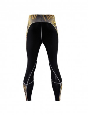 Scintillating Skull Pattern Mountain Bike Tights Large Size