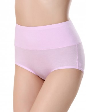 Comfort Light Pink Bamboo Fiber Period Panty Three Layers Slinky Figure