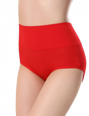Best Red Period Briefs Leak-Proof Pure Color Gentle Fabric