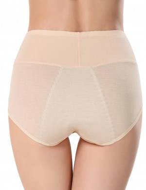 Staying Sweet Nude Leakproof Menstrual Panties High Waist Evening Romance