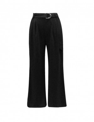 Exquisitely Wide Legged Pants With Pockets Feminine Fashion Style