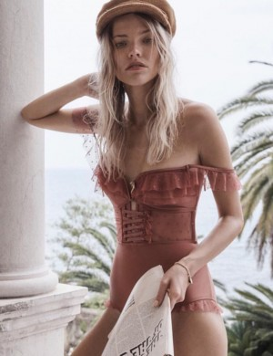 Mystic Off Shoulder One Piece Beachwear Lace Up Fashion Insider