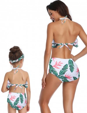 Poolside Family Wireless Bathing Suit Print Bowknot Shop Online