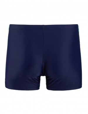 Modern Contrast Color Male Rapid Dry Swim Boxer Brief High Elasticity