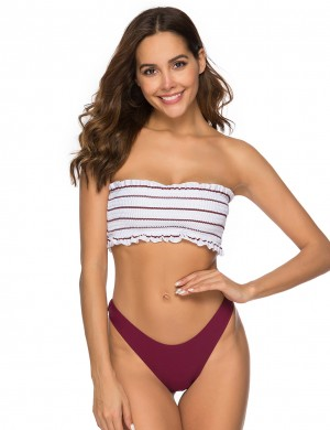 Energetic Pinstripe Multicolor Ribbed Bathing Suit Ultra Sexy