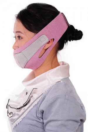 Breathable Pink Face Shaping Mask Belt Uplift