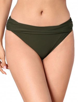 Happy Girl Green Low Waist Bikini Bottom Double Lining Online Shopping