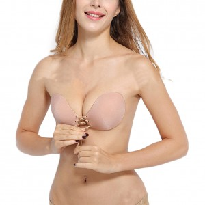 Invisable Nude Lace Up Closure Adhesive Push Up Bra
