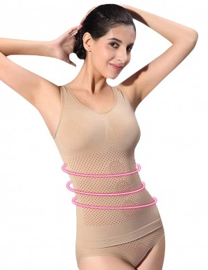 Smoothing Skin U Neck Sleeveless Cami Shaper Seamless Shapewear