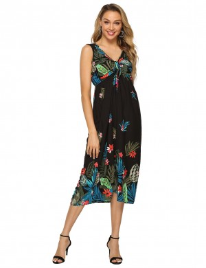 Staple Wide Strap Empire Waist Midi Dress Big Size Holiday