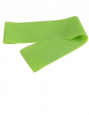 Functional Green Latex Round Yoga Pull Band Plain Chic Online