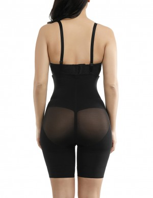 Bodycon Crotchless Booty Lifting Cross Body Shaper Queen Size Elastic