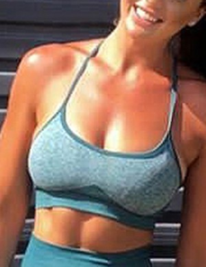 Green Crossover Back Seamless Colorblock Yoga Bra Tops Exercise