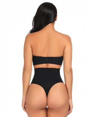 Skinny Black Butt Lifter High Wasit Solid Color Fitted Curve