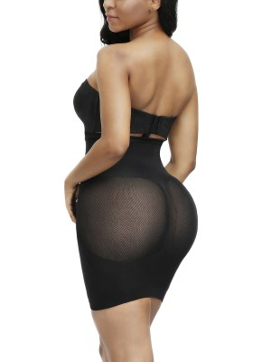 Highest Compression Black Sheer Lace High Waist Butt Enhancer
