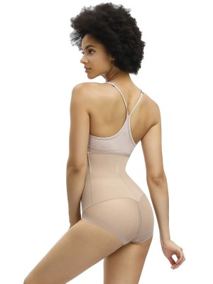 Figure Compression Apricot Tight Butt Lifter Panty High Waist Close Fit