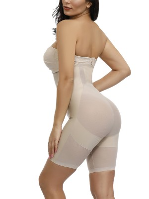 Most Comfortable Skin Plus Size Sheer Mesh Flat Tummy Shapewear Pants Secret Slimming