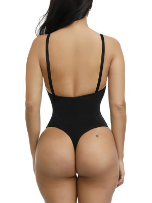 Ultra Hot Black Adjustable Straps Plus Size Shape Bodysuit Body Slimmer