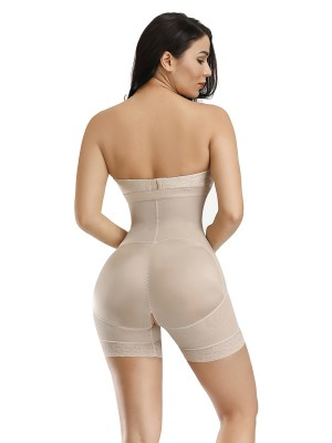 Compression Body Shaper Skin Zipper Plus Size Detachable Straps Body Slimmer