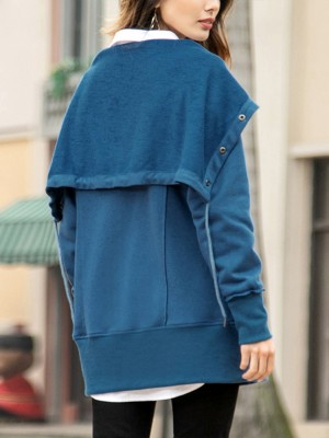 Beach Full Sleeves Jacket Big Size Pockets For Holiday