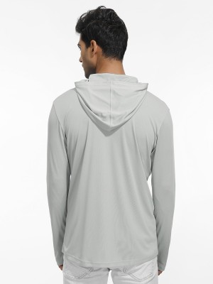 Inspired Light Gray Side Pockets Sport Top With Zipper Training Apparel