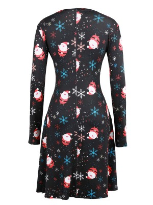 Modern Ladies Long Sleeves Mini Dress Large Size For Beauty