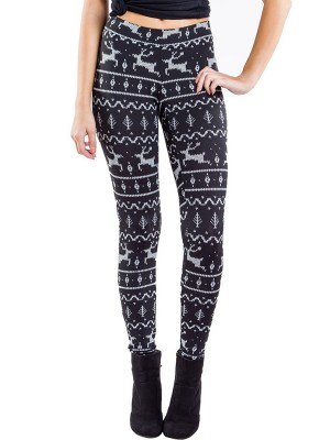 Passionate Xmas Ankle Length Leggings High Rise Fast Shipping