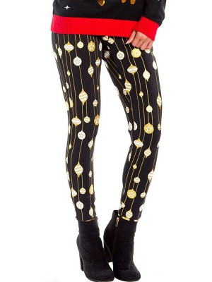 Cutie Xmas Printing High Waist Leggings For Holiday