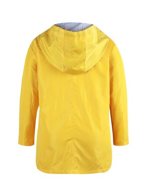 Exquisite Yellow Queen Size Hood Jacket With Pockets Sunshine