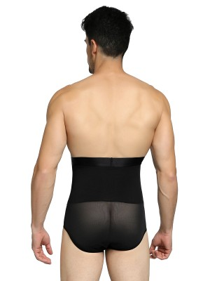 Smooth Silhouette Black 2 Boned High Rise Men Butt Lifter Seamless