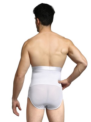 Sleek Smoothers White 2 Boned High Rise Men Butt Enhancer Basic Shaping