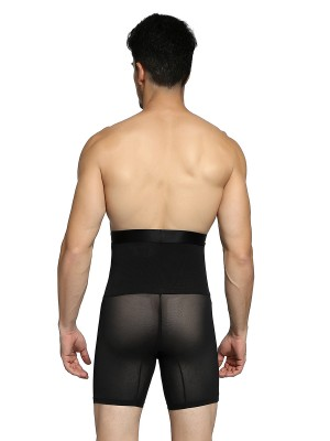 Flat Out Black High Rise 2 Boned Male Butt Lifter Slimming Belly
