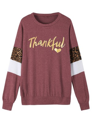 Daring Purple Letter Paint Long Sleeve Sweatshirt Latest Styles