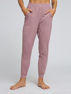 Dazzles Light Purple Full Length Pockets Sports Pants Plain Fashion Shopping