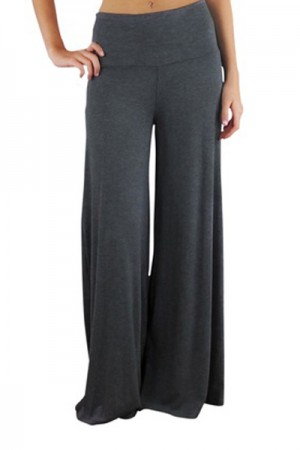 Fashionable Grey Casual Palazzo Pants Fashion Shopping