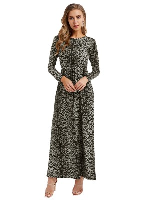 Figure-Hugging Long Sleeve Maxi Dress Plus Size Comfort