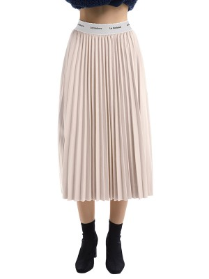 Summary Apricot Flannelette Maxi Skirt Fitted Waist Outfit