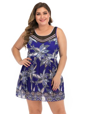 Multicolored Blue Hollow Out Beach Dress With Bottoms Beach Party