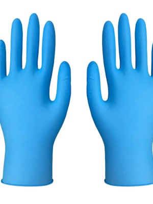 Blue 100Pcs Protective Gloves Powder-Free Good Elasticity