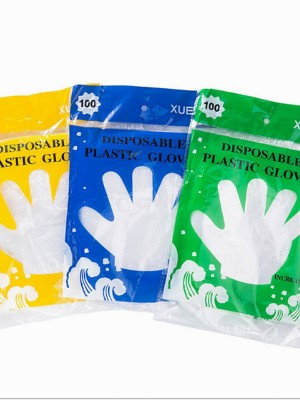 100Pcs Transparent Gloves Anti-Dirty