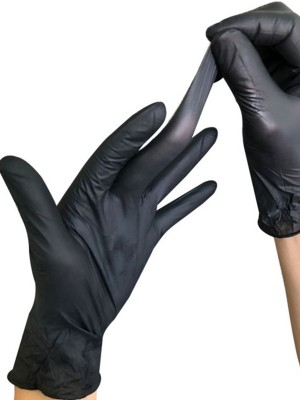 Shop Black 100 Pieces Powder-Free Thickened Gloves