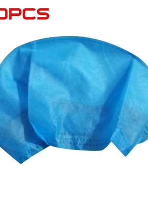 Must-Have Anti Slip Blue 20Pcs Disposable Bouffant Hats Non-Woven
