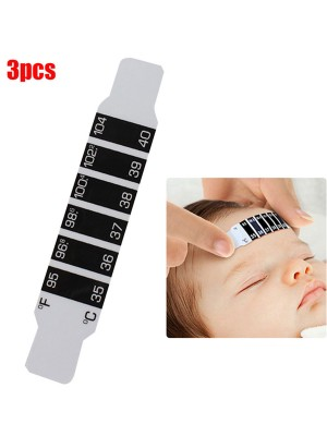 Essential 3Pcs Discolored Thermometer No-Batteries