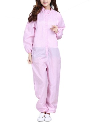 Breath Pink Solid Color One-Piece Protective Clothing Hoods