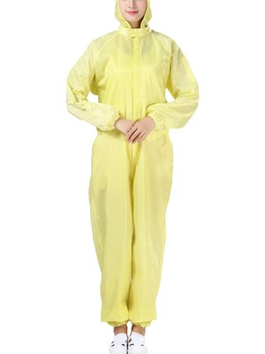 Yellow One-Piece Protective Jumpsuit Full Length High Quality