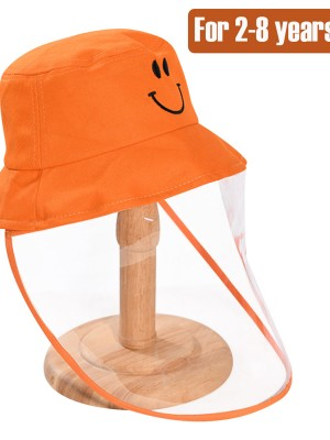 Kids Cotton Bucket Hat With Removeable Mask