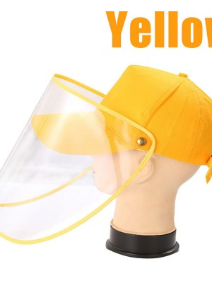 Yellow Anti-Fog Protective Face Shields Baseball Hat