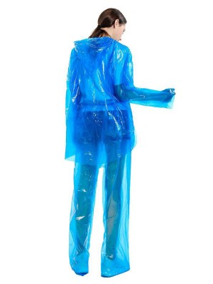 Durable Blue Dust-Proof Raincoat Set Outdoor Protection